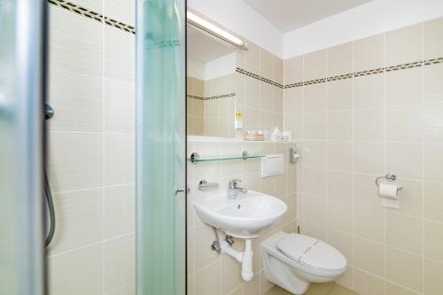 Koupelna pokoje Standard - Hotel Steelhouse