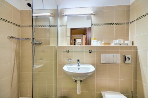 Koupelna pokoje Business - Hotel Steelhouse
